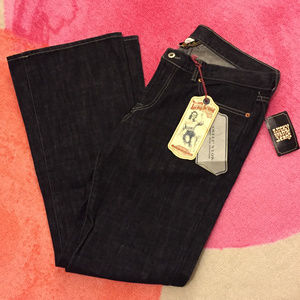 NWT Lucky Brand Black Flare Jeans - 14